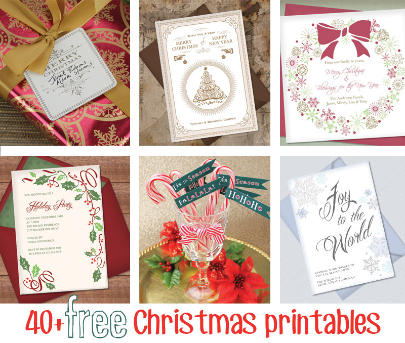 Over 40 Free Christmas Printables - Click to Download and make your holidays extra merry