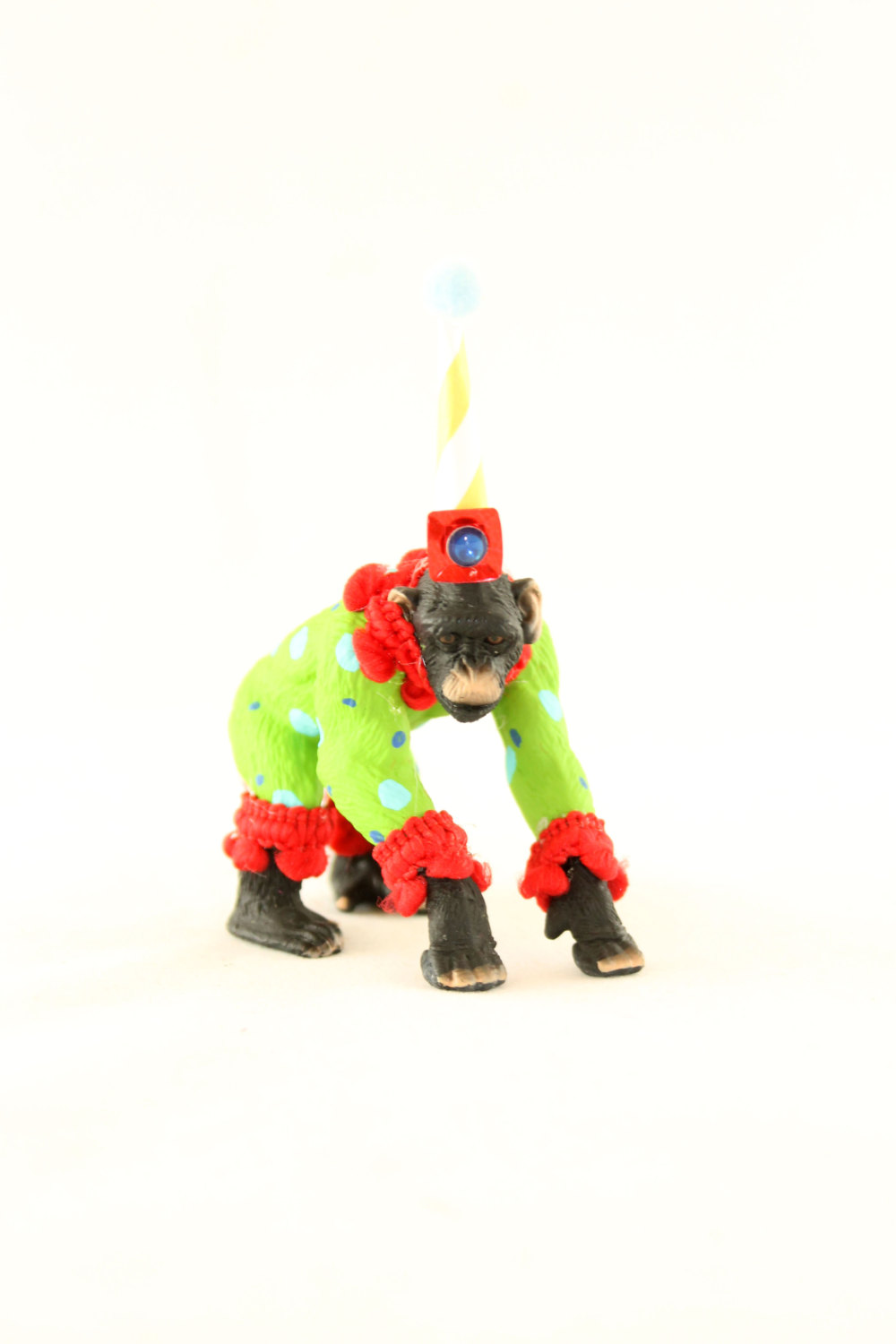 Chimp Circus Cake Topper / Monkey Birthday Party Table Decoration from Painted Parade / see more on www.GiggleHearts.com