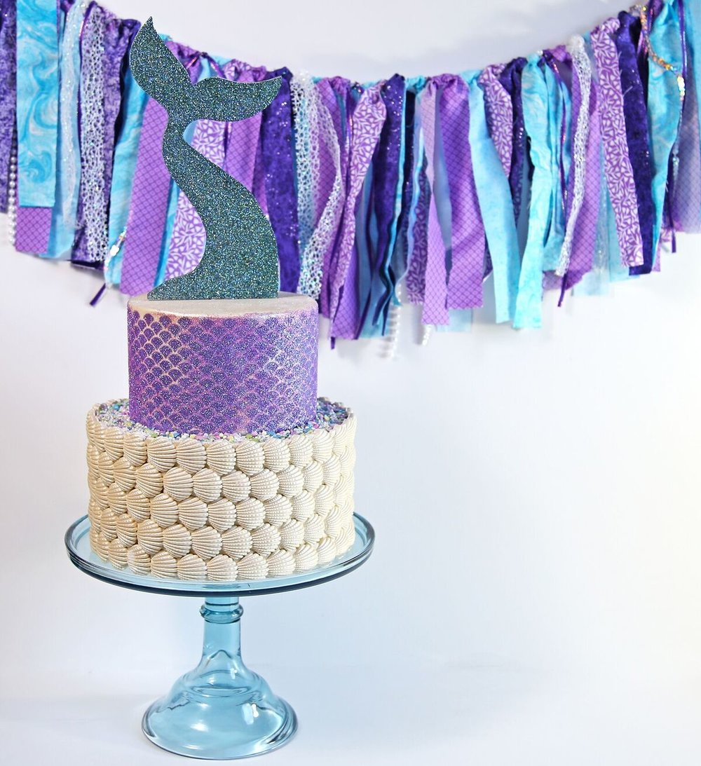 Pretty Mermaid Fabric Garland with sequins and pearls