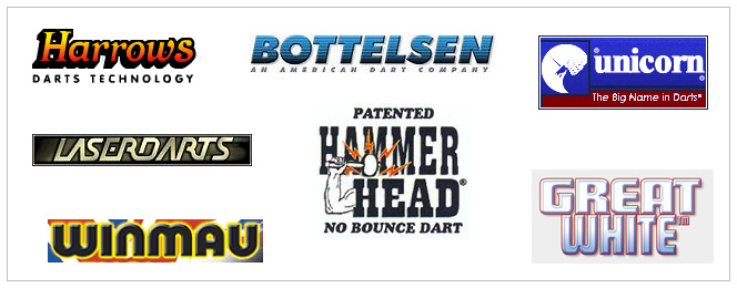 Here is a sample of the dart brand we carry.