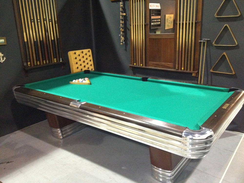 Brunswick Billiards Centennial Antique Pool Table