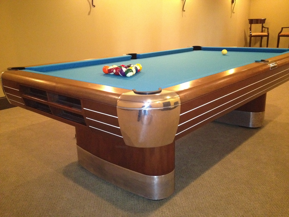 Brunswick Billiards Anniversary Antique Pool Table