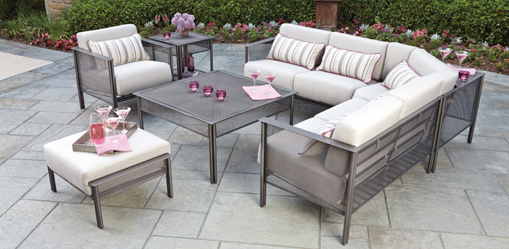 Jax Modern Patio Collection by Woodard
