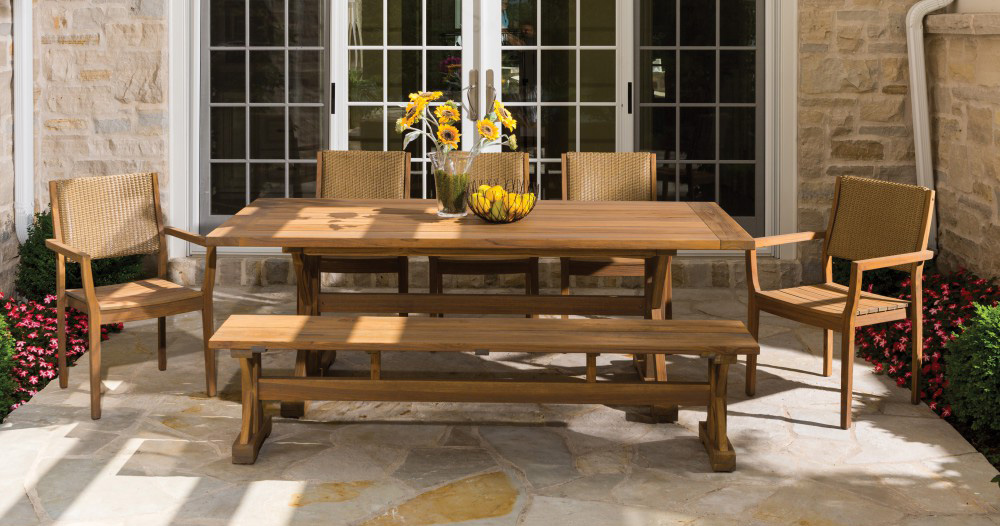 Outdoor Dining Set by Lloyd Flanders.