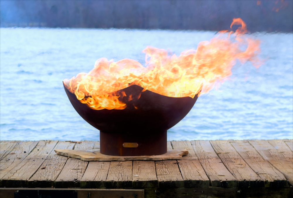 Manta Ray Firepit by FireArt