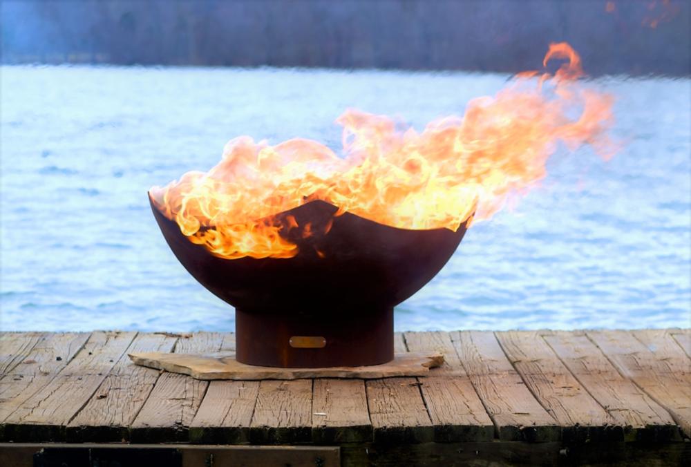Manta Ray Firepit by FireArt