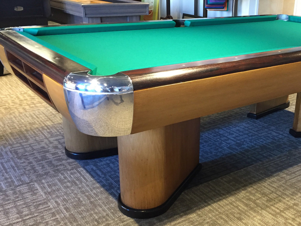 Brunswick Moderne Antique Pool Table