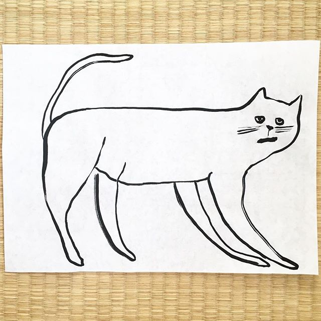 At first Japan seemed full only of insects. And then I started to see cats. . . . #japan #cat #illustration #drawing #sketchbook #doodle #ぬこ #日本 #絵