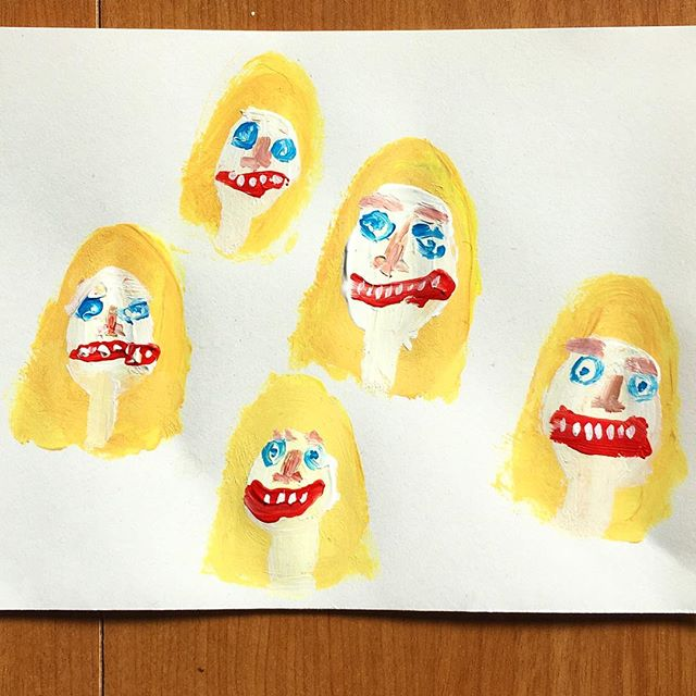 My next five wives. . . . #painting #paint #doodle #sketchbook #映画 #illustration #blonde