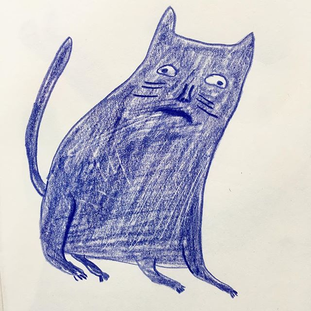 A cat . . . . #illustration #drawing #イラスト #ねこ #cat #sketchbook