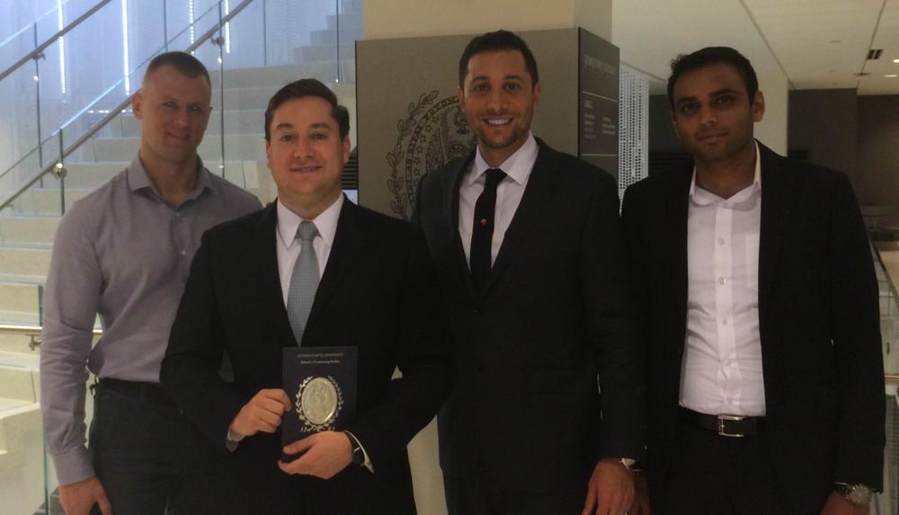 From left: Jury Panelist Anton Sibrin, Award Recipient Eric Kasenetz, Jury Panelist Damon Orobona, and Jury Panelist Ashish Amin