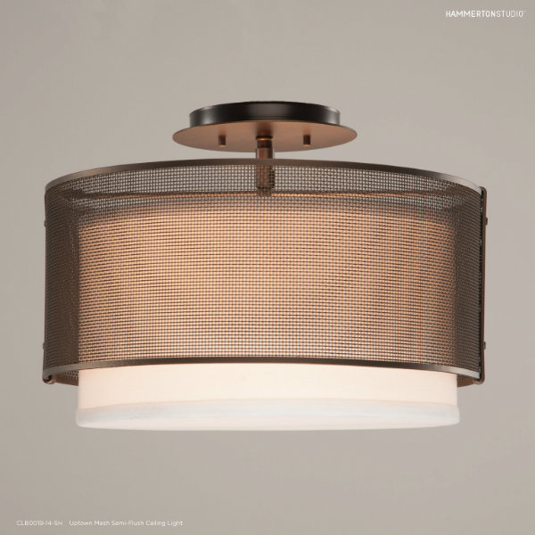 Add urban elegance and just the right amount of volume by incorporating an Uptown Mesh chandelier with a semi-flush mount to your interior space.