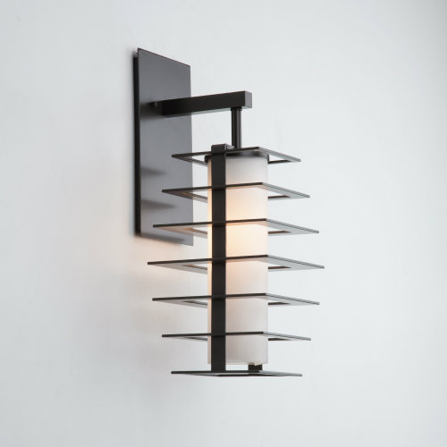 Skyline outdoor sconce in a Statuary Bronze finish.