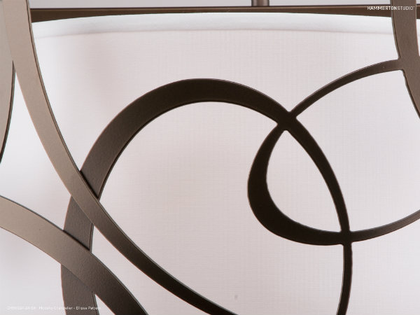 Detail of the Modello Ellipse Pattern chandelier.