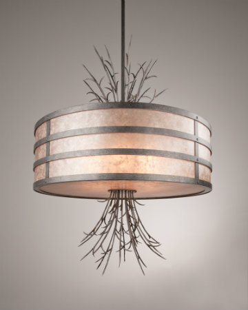 This contemporary organic design featuring radiating sprigs brilliantly combines natural forms with clean lines and a sleek silhouette.