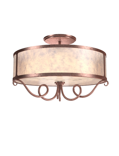 Whimsical contours and a light mica lens material add refreshing warmth to this Seriph ceiling light, suitable for a variety of interior styles.