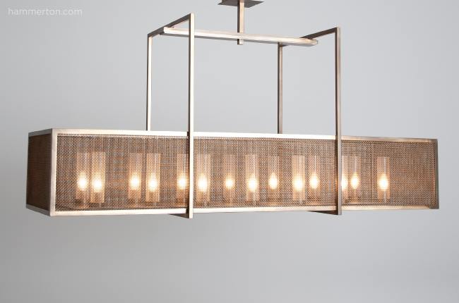 This modified version of dining light PL2159 from the Hammerton Contemporary collection has been scaled to 140% of size.