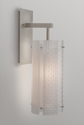 A Lattice indoor sconce from the Hammerton Studio Textured Glass collection.