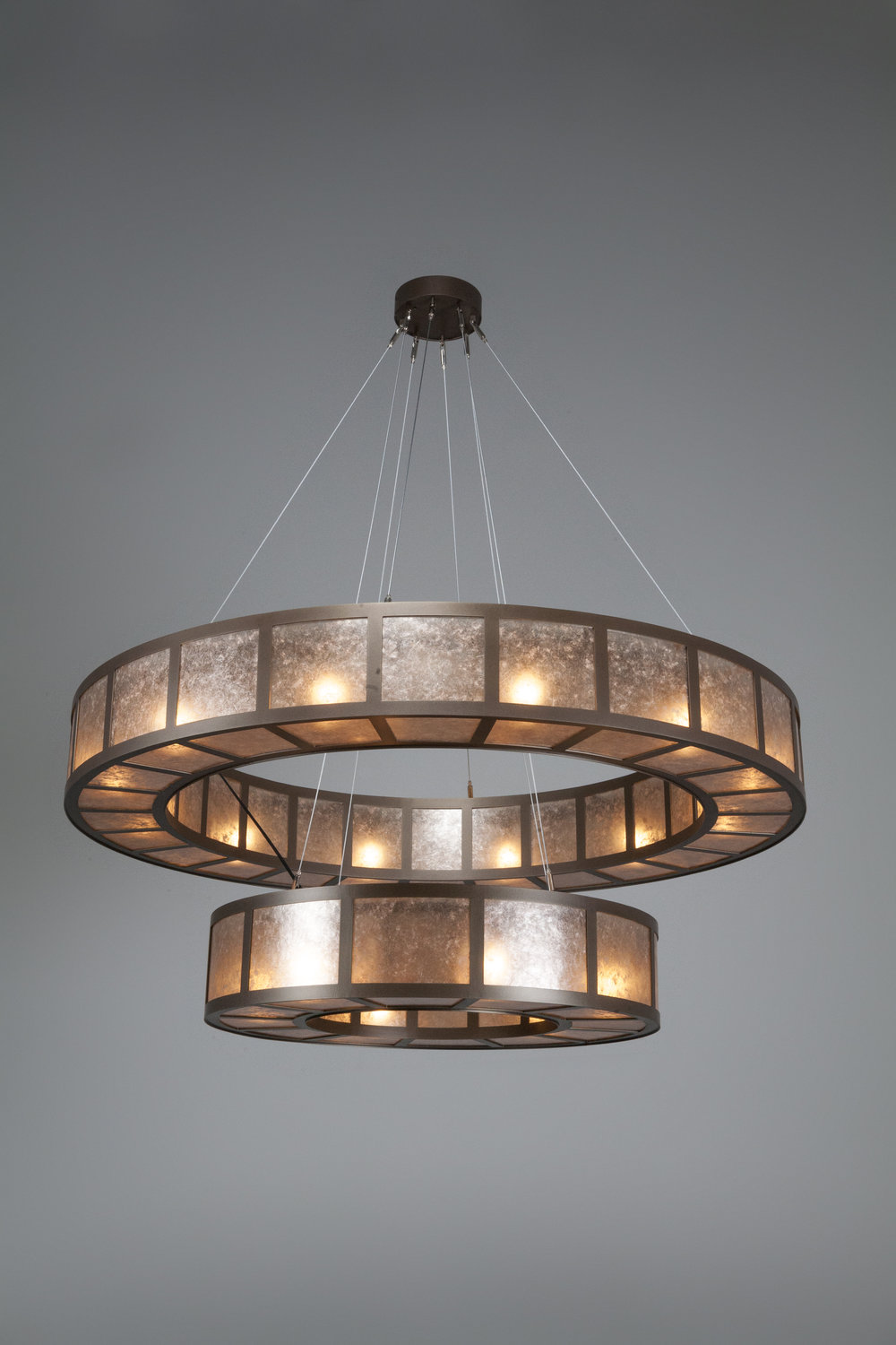 "From the Hammerton Contemporary Collection: CH2249-L, 60""D x 60""H, shown with a light mica lens and Flat Bronze finish"