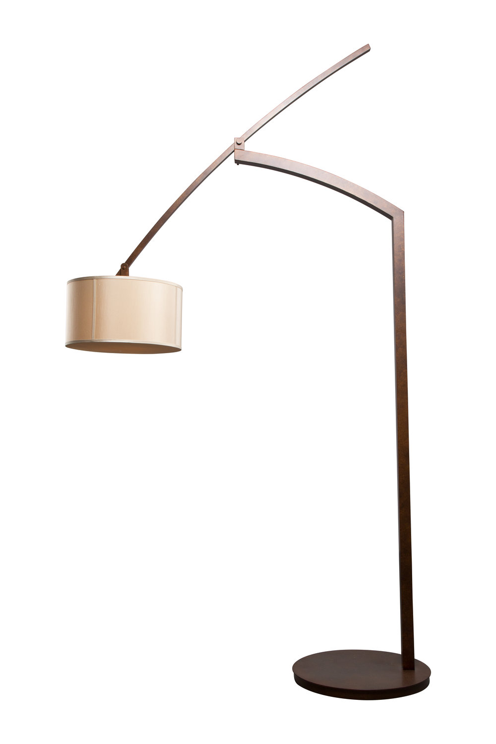 An oversized balanced arm floor lamp for a large mountain resort home. Custom design #DLA-B-004-9A-B