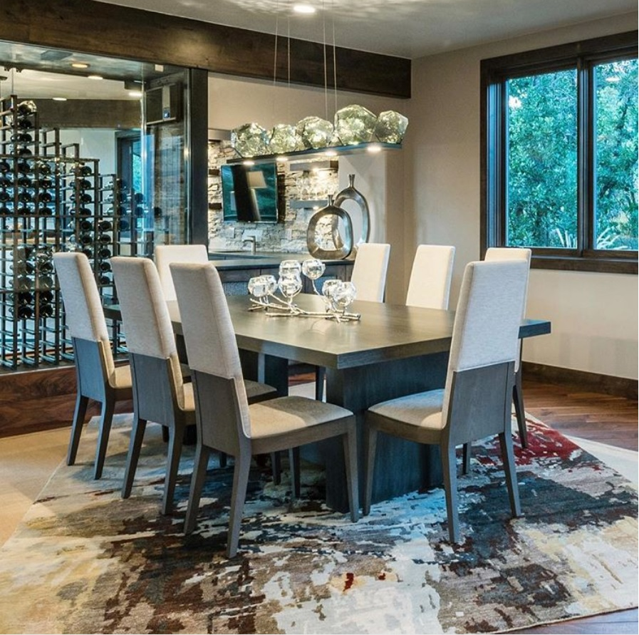 Gunmetal finish with smoke glass. Photo Courtesy of Poison Creek Furniture & Design, Park City UT