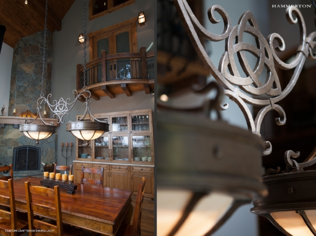 For an Irish client, Hammerton designed a series of custom lights featuring this Celtic knot design.
