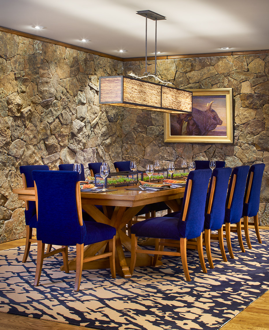Contemporary rustic dining room featuring PL2108. Designed by  The Great Room Interior Design  | Gwynedd Valley, PA