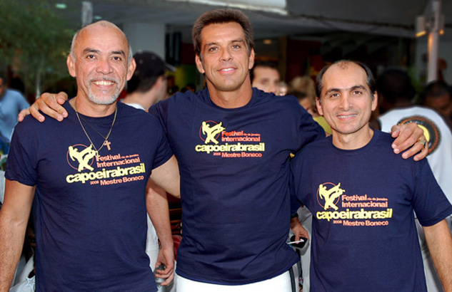Our Founding Mestres. Left to Right: Mestre Paulão Ceara, Mestre Boneco and Mestre Paulinho Sabiá
