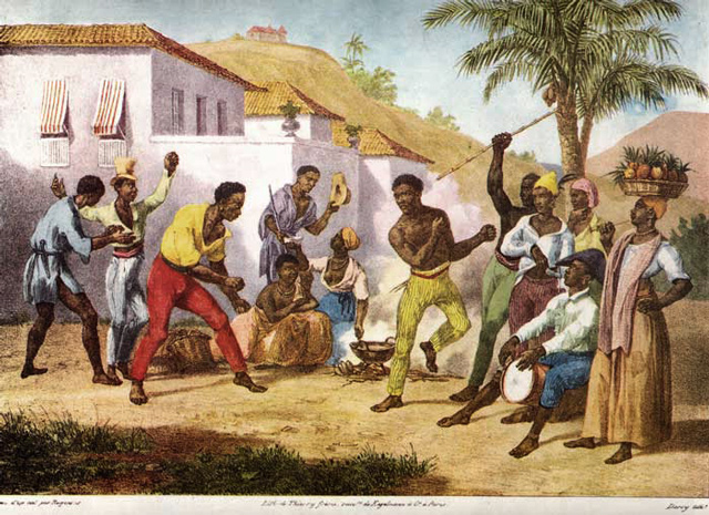 Historical painting of Capoeira in Brasil