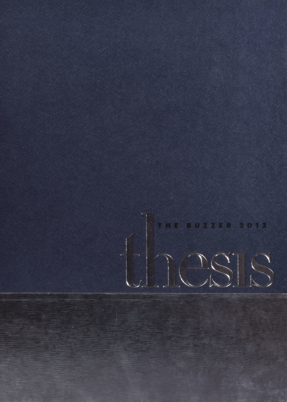 2012 Thesis, Vol. 85- - - Gold Crown (CSPA), Pacemaker (NSPA) State Trophy Class (VHSL)