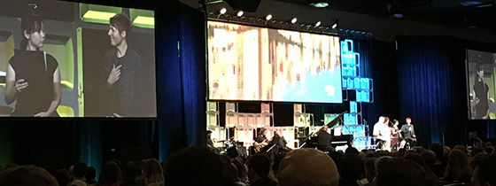 Abi translates for O-Chan and Asami at the Global Missions Conference in Dallas November 2017 as they spread the message to thousands about the power of gospel music in Japan.