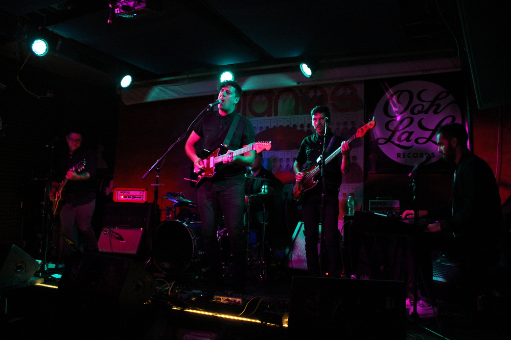In-Flight Safety performs at Pianos NYC during CMJ Music Showcase.