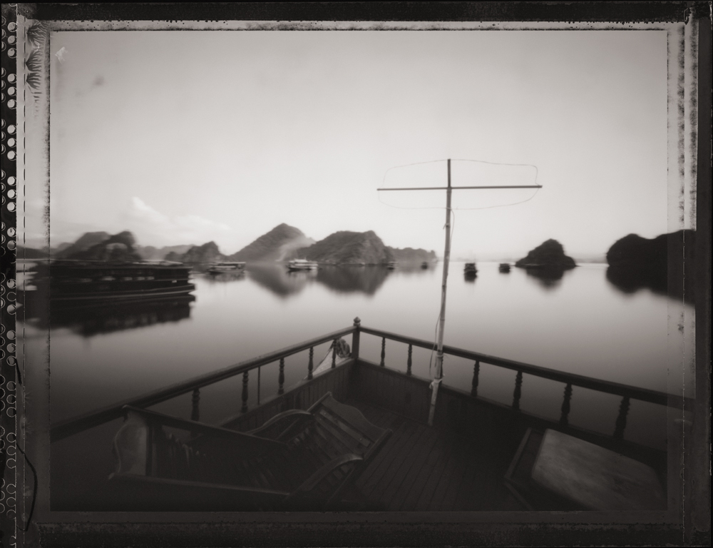 Early Morning on Junk Boat, Halong Bay ,  UNESCO World Heritage Site.  Pinhole Image © 2007.