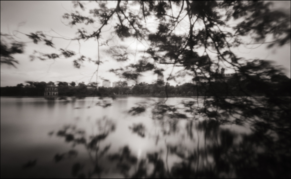 Hoan Kiem Lake & the Tortoise Tower, Hanoi . Pinhole Image © 2007.