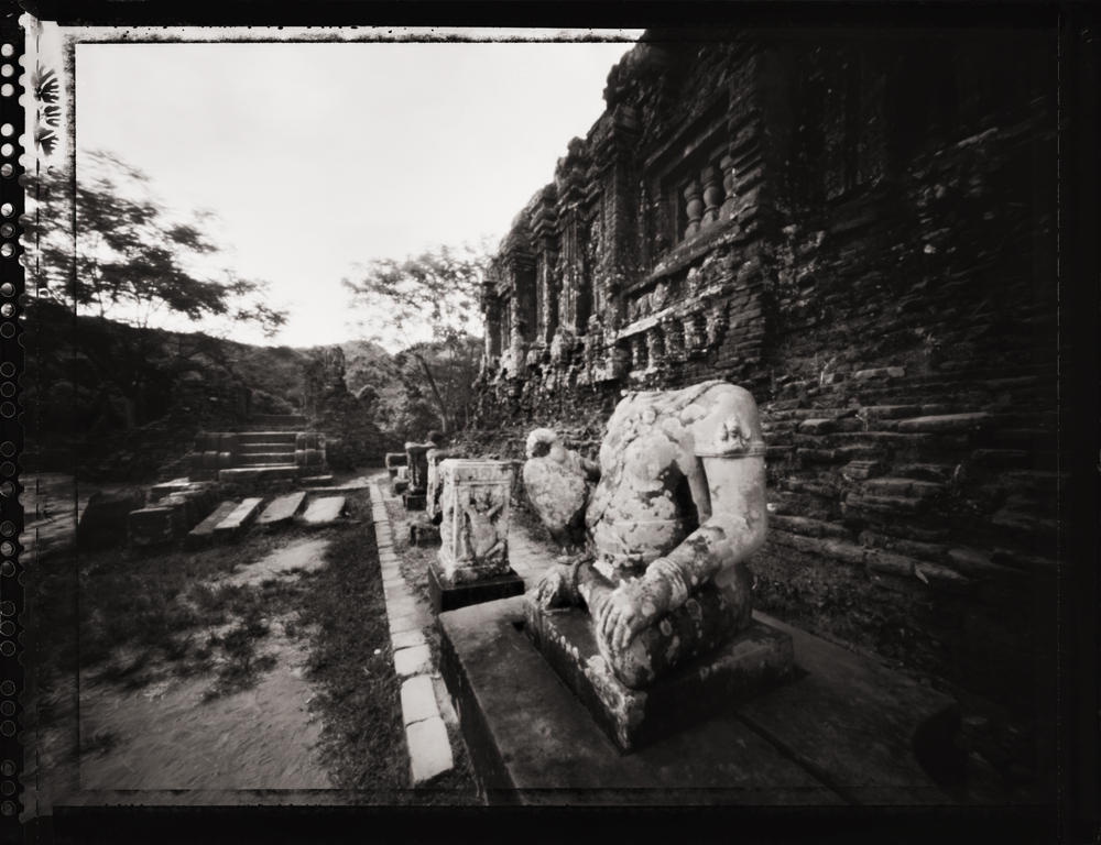 Headless Statue, My Son Temple Complex ,  UNESCO World Heritage Site . Pinhole Image © 2007.