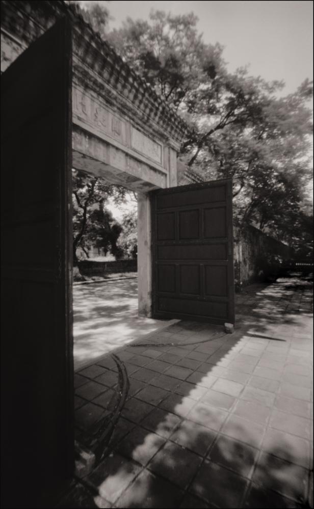 Doors to Citadel Courtyard, Hue . Pinhole Image © 2007.