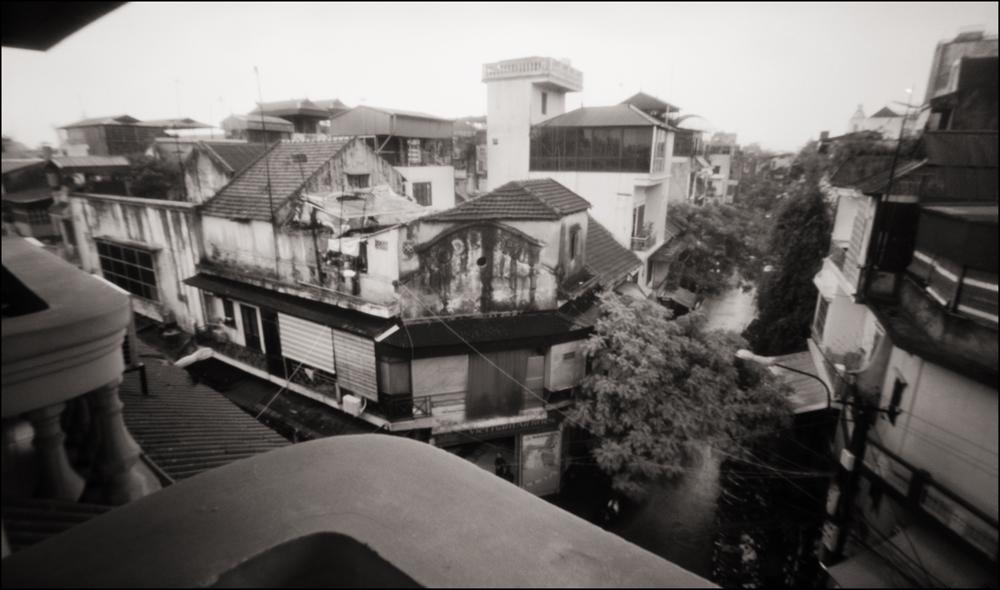 Balcony Overlooking Old Quarter, Hanoi . Pinhole Image © 2007.