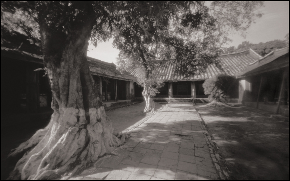 Courtyard, Tomb of King Tu Duc, Hue . Pinhole Image © 2007.