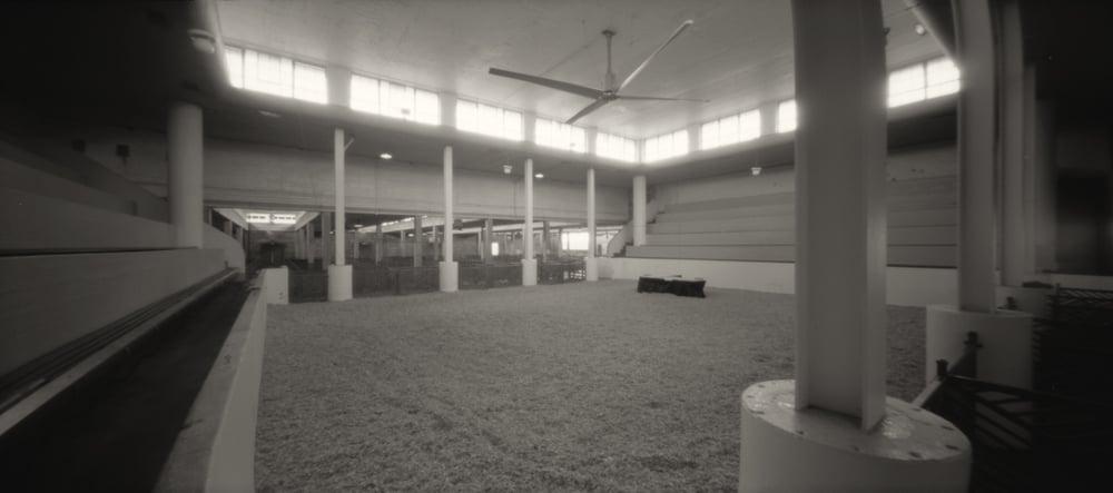 Stockyard Exhibition Building. Pinhole Image © 2010.