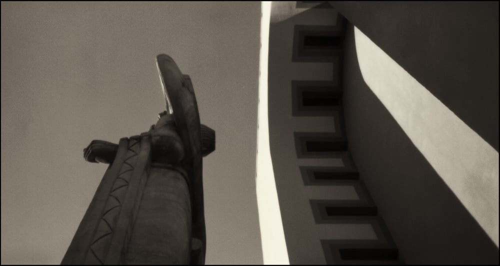 Confederate Goddess, The Centennial Building.  Pinhole Image © 2004.