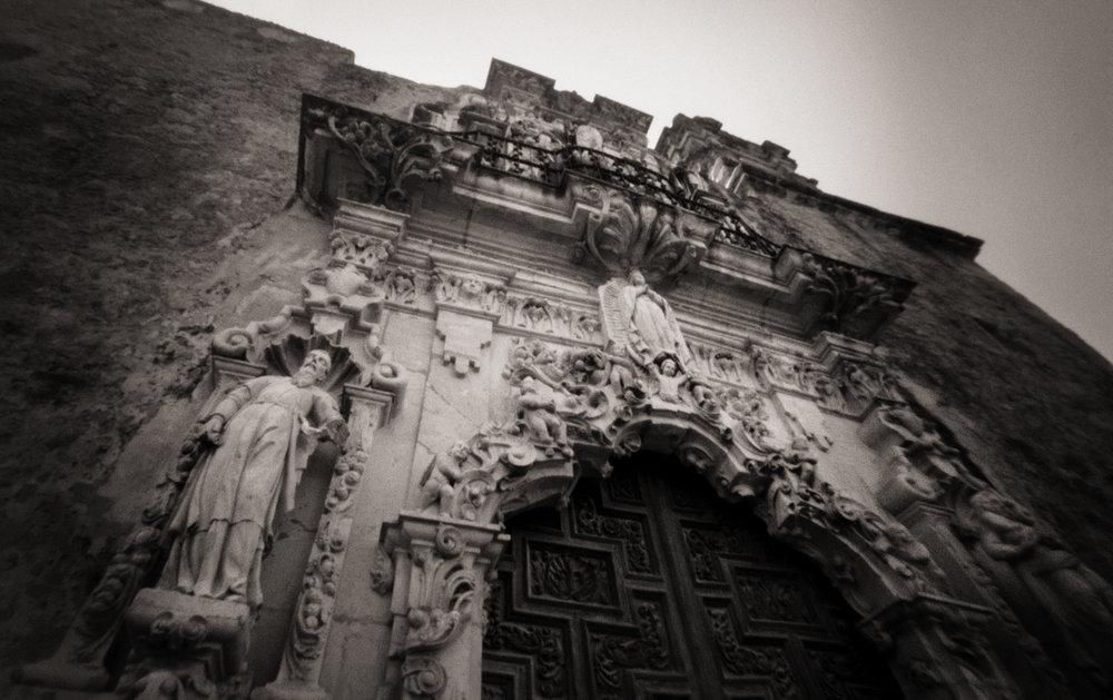 Facade, Mission San José y San Miguel de Aguayo