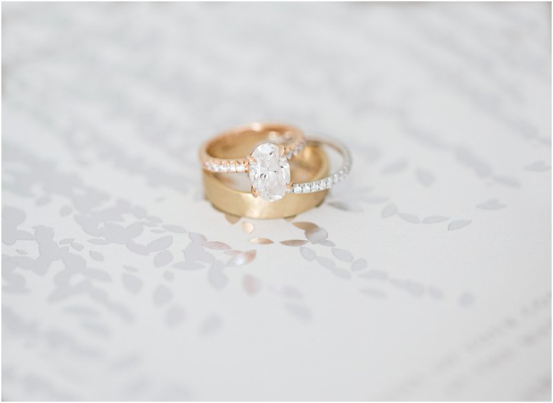 Custom engagement ring and wedding bands by Egan Day