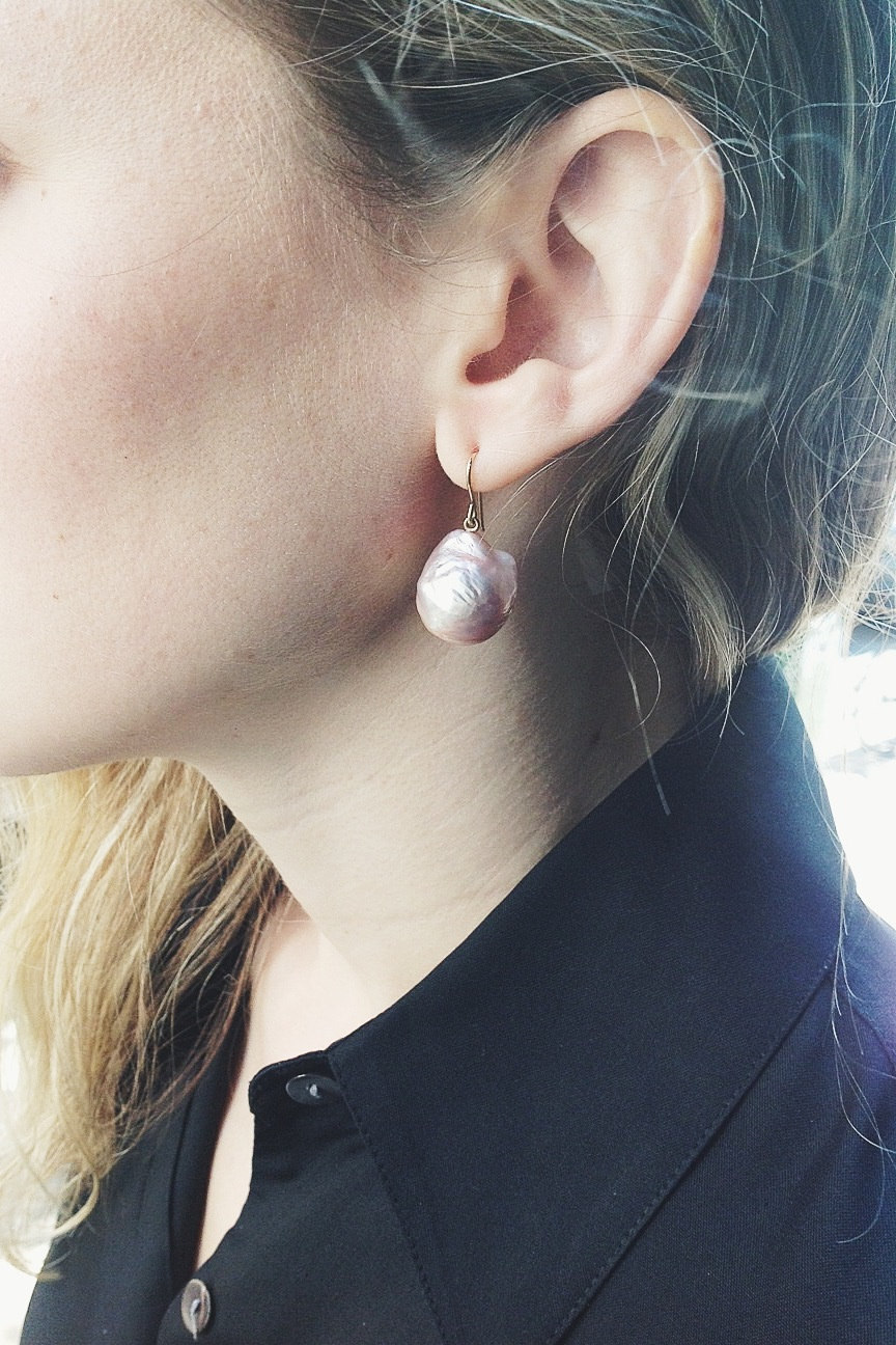 New One-of-a-kind pink Baroque pearls by Maria Beaulieu, please call for pricing and availability