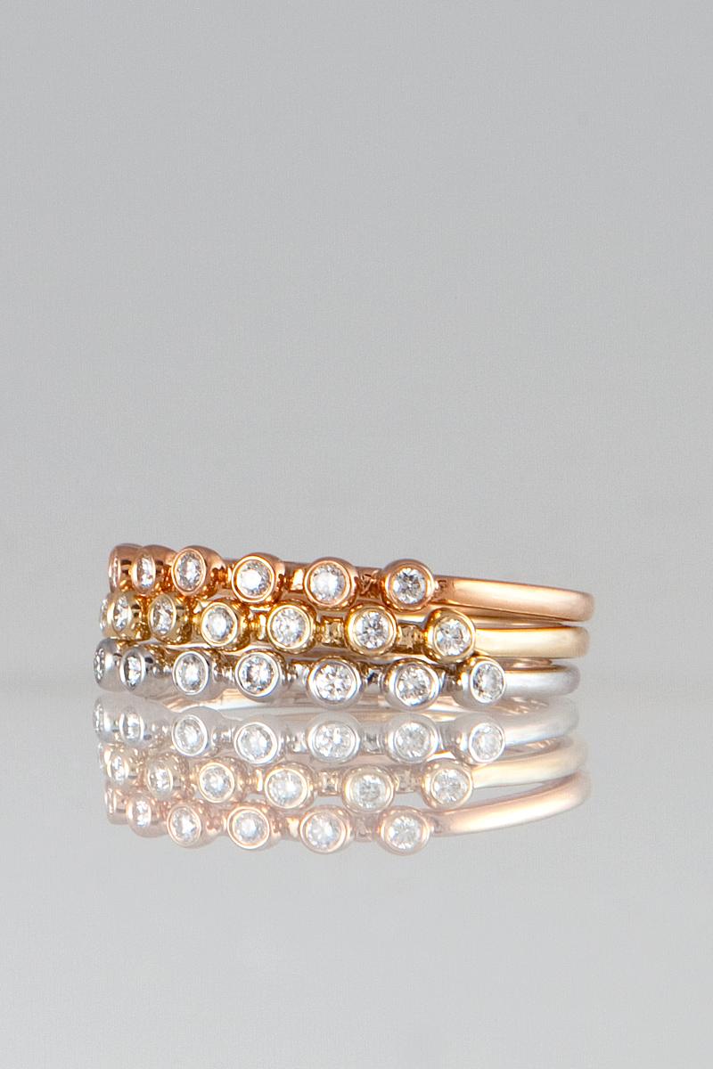 NICOLE LANDAW DIAMOND BEAD RINGS MAKE A PERFECT STACK