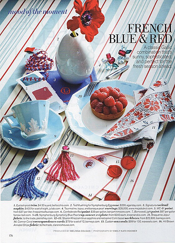 Our ted muehling for nymphenburg celadon egg vase in veranda magazine, april 2015
