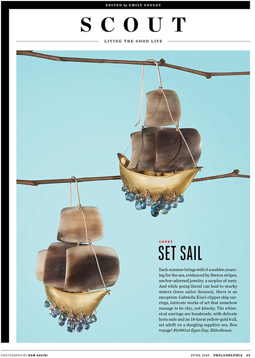 gabriella kiss clipper ships in the june 2015 issue of Philadelphia magazine