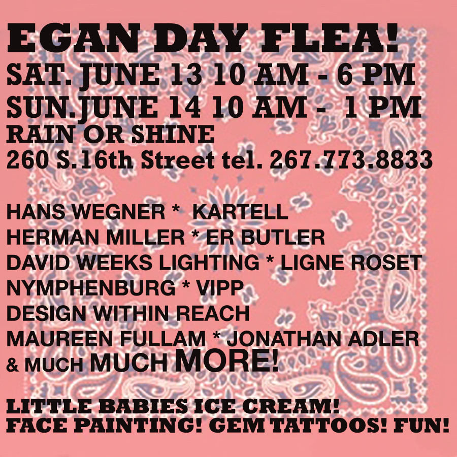 tell your friends and bring your family to egan day flea!