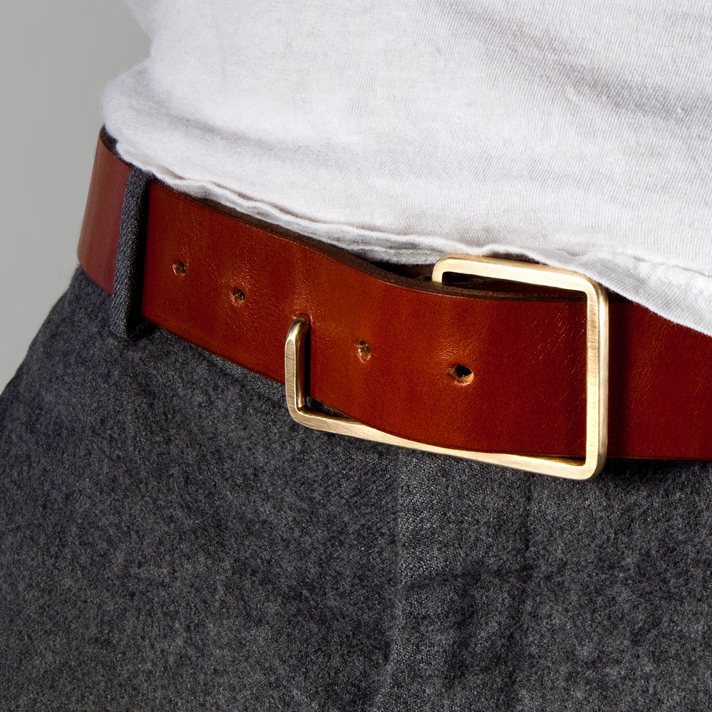 "The result of a design ""challenge"" to make a belt buckle from single piece of wire, the editions de re ""Donny"" buckle (named after co-founder jim hinz' dad) is functional and minimal, with just the right amount of swagger"