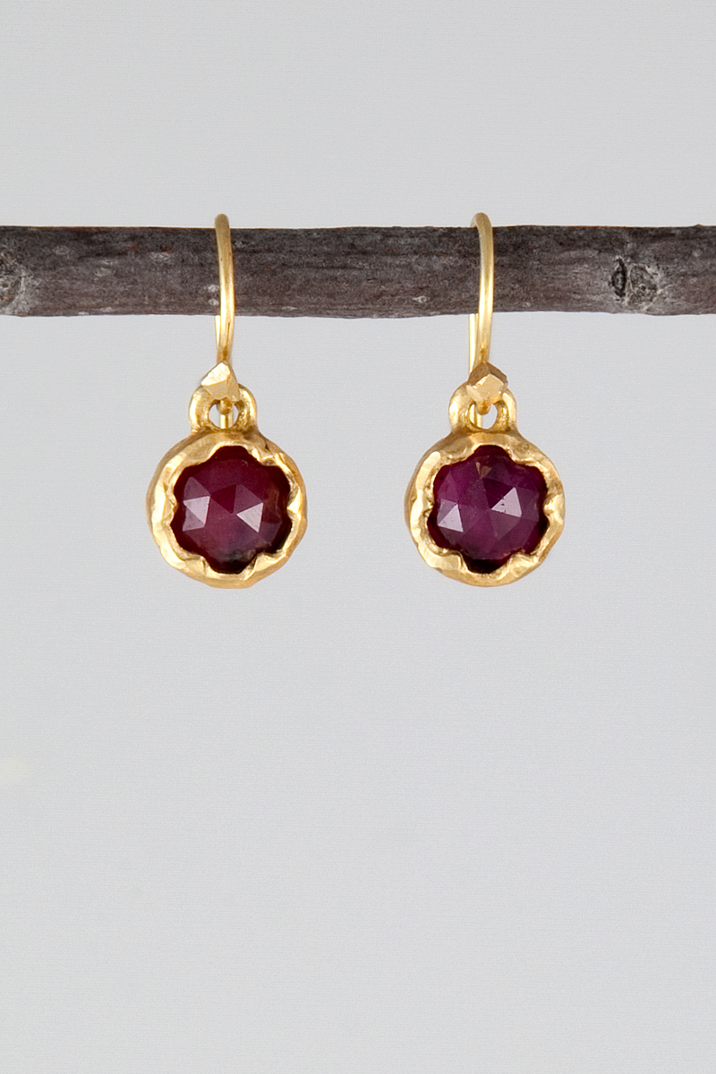 Danyell Rascoe AFRICAN RUBY SCALLOP EARRINGS