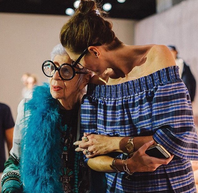 the one-and-only jenna lyons rocking her maria beaulieu XXX-heavy weight signature bracelet